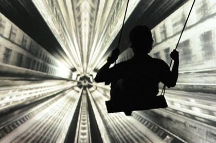 aletide interactive swing new media art installation